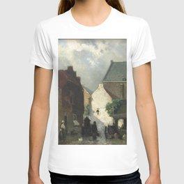 Fish Market Sun 1873 By Johan Hendrik Weissenbruch | Reproduction T-shirt