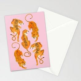 Three fierce tigers Stationery Cards