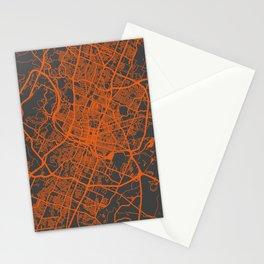 Austin map orange Stationery Cards