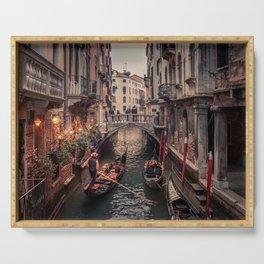 A Gondola Ride in Venice Serving Tray