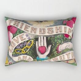 Friendship Love and Truth Vintage Illustration, 1874 Rectangular Pillow