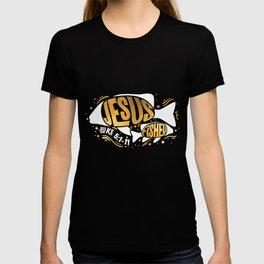 Jesus Fished Onefish Twofish - Christian Fishing  T-shirt