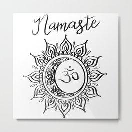 Namaste Blanc Metal Print