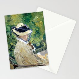 Édouard Manet Madame Manet at Bellevue Stationery Cards