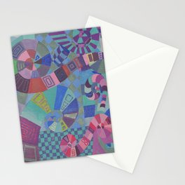 """Moo's Mom's Abstract art """"Alice Swirl"""" Stationery Cards"""