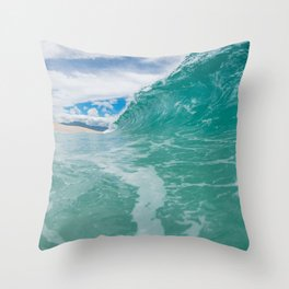 Giant Wall of Water Throw Pillow