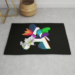Letter A neon Rug