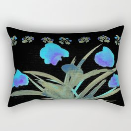 Atom Flowers #34 in blue and green Rectangular Pillow