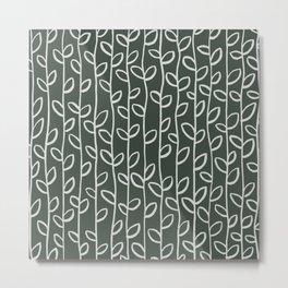 Vines . Olive  Metal Print