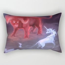 Unicorn and Bull Rectangular Pillow