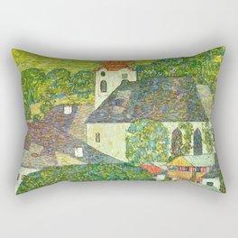 """Gustav Klimt """"Church in Unterach on the Attersee"""" Rectangular Pillow"""