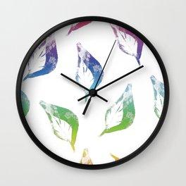 Falling Leaves, Rainbow Wall Clock