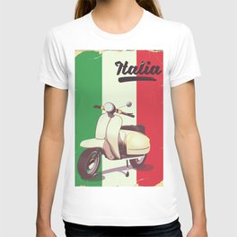 Italia Scooter vintage poster T-shirt