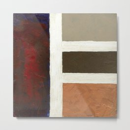 Textured Cubism -Modern Art - Color Blocking Art - Hospitality Art - Corbin Henry Metal Print