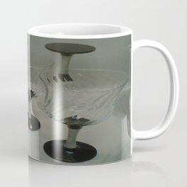 Silver & Black Stemmed Parfait Glasses Coffee Mug