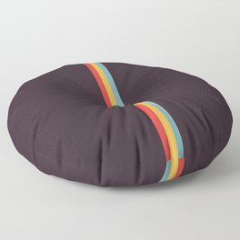 Apsaras - Classic Colorful Abstract Minimal Retro 70s Style Stripes Design Floor Pillow