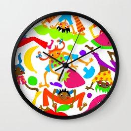 Fruit Leapfrog Wall Clock