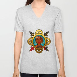 Afro Queen Red Regal Unisex V-Neck