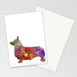 Pembroke Welsh Corgi 01 in watercolor 2 Stationery Cards