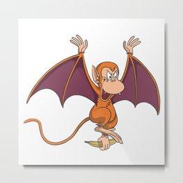 Halloween bat vampire monkey Metal Print