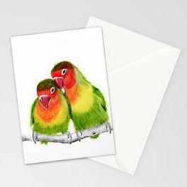 Love Birds - birds, nature, wildlife Stationery Cards