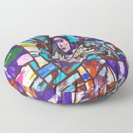 Sayonara purple moon Floor Pillow