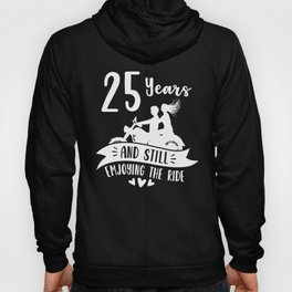 25th 25 year Wedding Anniversary Gift Ride Husband Wife graphic Hoody