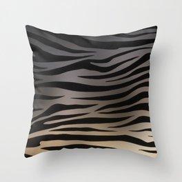 Zebra Sunset Throw Pillow