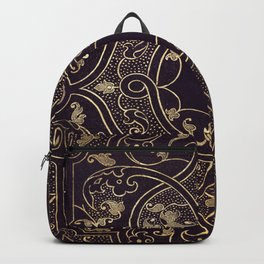 Gold Ornate 1 Backpack