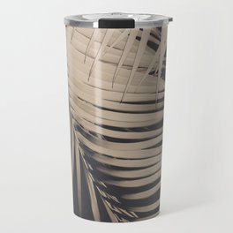 Palm Leaves Sepia Vibes #1 #tropical #decor #art #society6 Travel Mug
