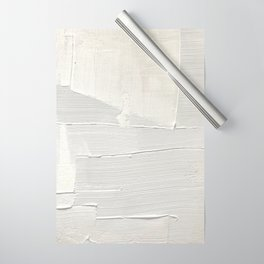 Relief [1]: an abstract, textured piece in white by Alyssa Hamilton Art Wrapping Paper