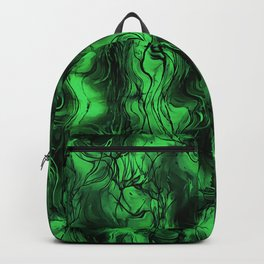 Nervous Energy Grungy Abstract Art Mint Green And Black Backpack