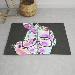 в.𝔩uⓋi𝐝 𝓐𝐑𝕋 𝑅𝑒𝓃𝒹𝒾𝓉𝒾𝑜𝓃𝓈 🆂6 §.ð.†.ß. Society6 - El Conejo Malo - Bad Bunny Rug