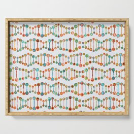 Watercolor DNA Strands Serving Tray