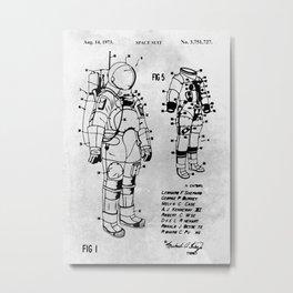 Space Suit Metal Print