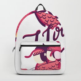 I Love You Love Owls Valentines Day Backpack