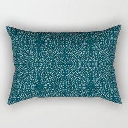 Celestial Stars Art, Teal Green, Boho Wall Art Rectangular Pillow