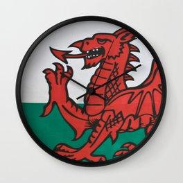 The Welsh Dragon Rises Wall Clock