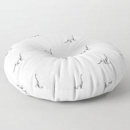 Diplodocus pattern. Floor Pillow