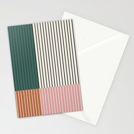 Color Block Lines Abstract V Stationery Cards