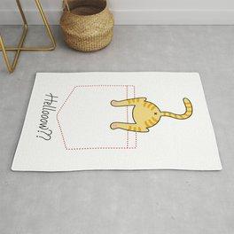 'Hellooow??' cute kitten in the pocket - cat lovers - pet lovers - cute animals Rug