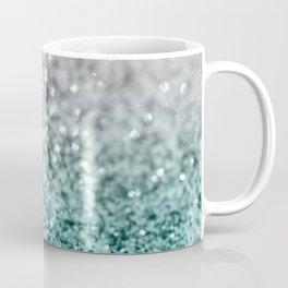 Silver Teal Ocean Glitter Glam #1 #shiny #decor #art #society6 Coffee Mug