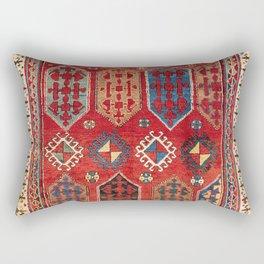 Borjalou Kazak  Azerbaijan Southwest Caucasus Rug Print Rectangular Pillow
