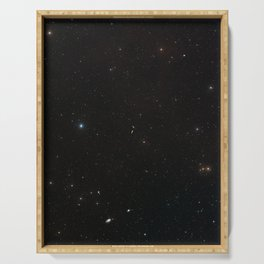 Hubble Space Telescope - Wide-field view of NGC 4634 and NGC 4633 Serving Tray