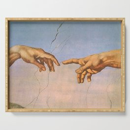 Michelangelo's Creation Serving Tray