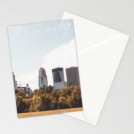 Minneapolis Minnesota Skyline Fall Colors Stationery Cards