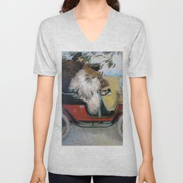 Ramon Casas And Pere Romeu In An Automobile - Digital Remastered Edition Unisex V-Neck