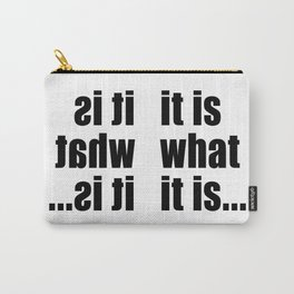 it is what it is (on white) Tasche
