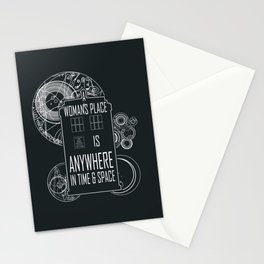 A Woman's Place is Anywhere in Time and Space Stationery Cards