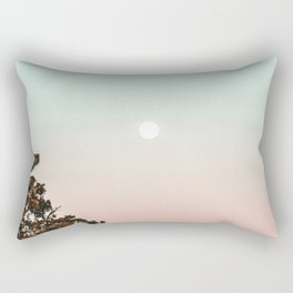 Rainbow Color Sunset // Incredible Clear Sky Photograph Through the Forest Trees Rectangular Pillow